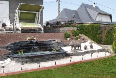 Construction et aménagement de bassin d'ornement