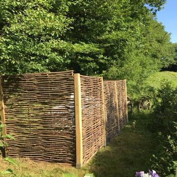 aménagement d'une clôture extérieure vers Lourdes