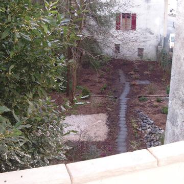Création d'un jardin extérieur vers Lourdes