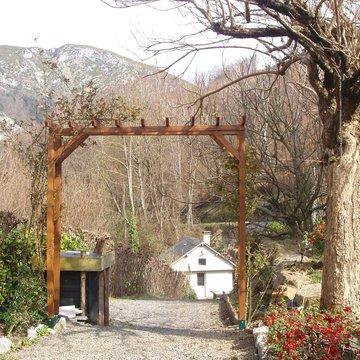 aménagement d'une pergola extérieure vers Saint-Pé-De-bigorre